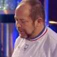 """Geoffrey aux côtés de Gilles Goujon dans """"Top Chef 2018"""", sur M6. Le 15 mars 2018."""