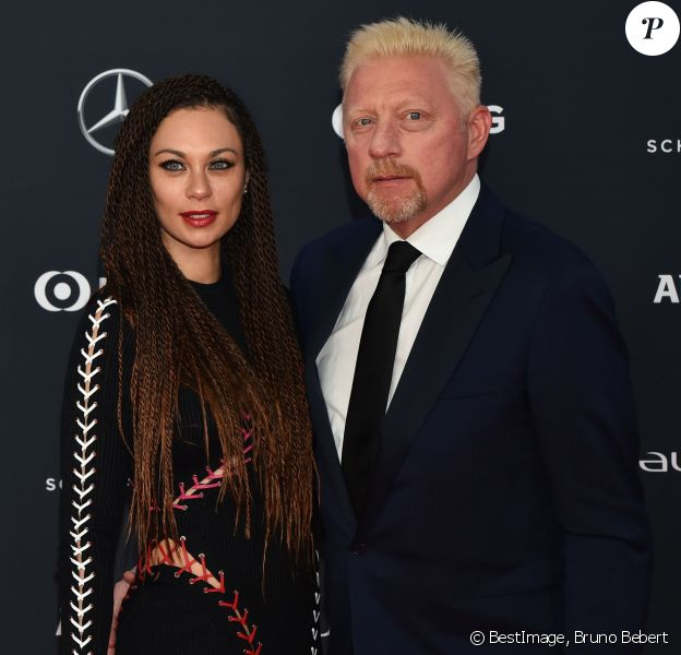 Boris Becker et sa femme Lilly (Kerssenberg) lors du photocall des Laureus World Sports Awards 2018 au Sporting Monte-Carlo à Monaco le 27 février 2018. © Bruno Bebert / Bestimage