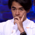 """Geoffrey lors du 8ème épisode de """"Top Chef"""" (M6) mercredi 21 mars 2018."""