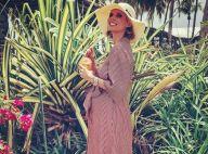 Sylvie Tellier enceinte de 6 mois en robe de luxe et soirée avec un acteur sexy