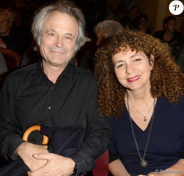 """Franz-Olivier Giesbert et sa compagne Valérie Toranian - Générale de la pièce de théâtre """"Le Mensonge"""" au théâtre Edouard VII à Paris, le 14 septembre 2015."""
