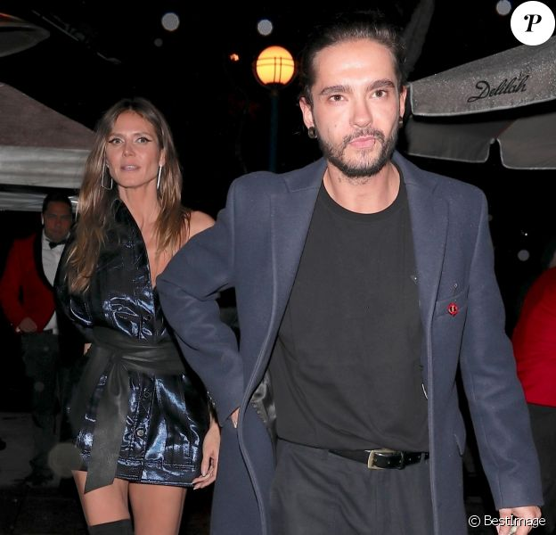 Heidi Klum est repartie avec Tom Kaulitz (Tokio Hotel) du club Delilah à West Hollywood. Le 13 mars 2018.