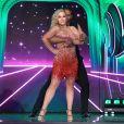 """Anastacia et le danseur Maykel Fonts sur le plateau de """"Ballando con le stelle"""" (le """"Danse avec les stars"""" italien) à Rome le 26 mars 2018."""