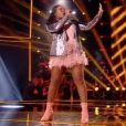 """Karolyn dans """"The Voice 7"""" sur TF1, le 31 mars 2018."""