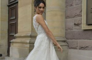 Meghan Markle dans sa robe de mariée, les premières images dévoilées