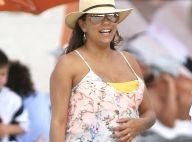 Eva Longoria enceinte en bikini : La star filme son joli ventre très arrondi