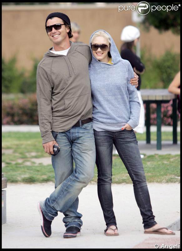 Gwen Stefani, Gavin Rossdale, Kingston et Zuma, au parc Coldwater de Beverly Hills. 29/03/09