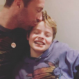 Chris Martin et son fils Moses. Janvier 2017.