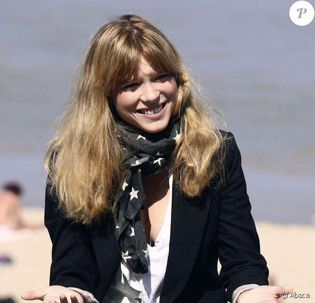 """Léa Seydoux... en tournage de """"Robin des Bois"""", de Ridley Scott, dans la banlieue de Londres."""