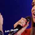 Lorrah Coresti face à Gabriel dans The Voice 7 sur TF1 le 14 avril 2018.