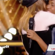 "Yvette face à Liv Del Estal dans ""The Voice 7"" sur TF1, le 14 avril 2018."