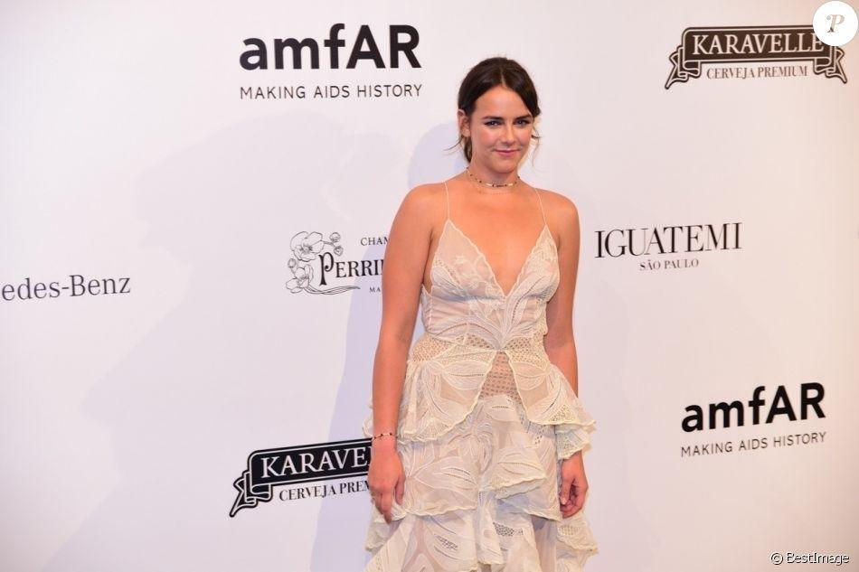 Pauline Ducruet, fille de la princesse Stéphanie de Monaco, lors du gala de l'amfAR à São Pulo au Brésil le 13 avril 2018.