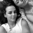 Pauline Ducruet et Schanel Bakkouche à São Paulo au Brésil le 13 avril 2018, à leur hôtel (le Tivoli Mofarrej) avant de se rendre au 8e gala de l'amfAR. Image extraite de sa story Instagram le 13 avril 2018.