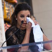 Eva Longoria : Les larmes aux yeux auprès de Felicity Huffman et de ses amis VIP