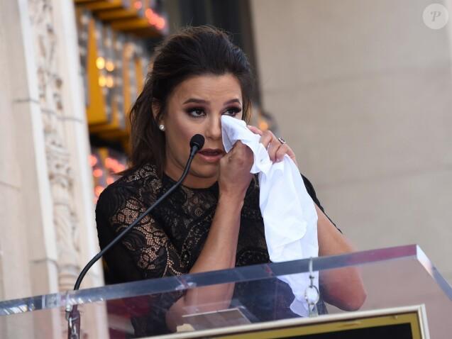 Eva Longoria, enceinte, reçoit son étoile sur le Walk Of Fame à Hollywood, le 16 avril 2018