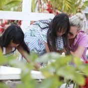 Laeticia Hallyday : Des larmes et de la tendresse sur la tombe de Johnny