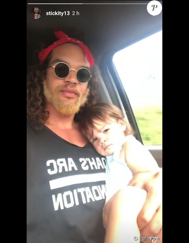 Joakim Noah avec sa fille sur Instagram, le 22 avril 2018.