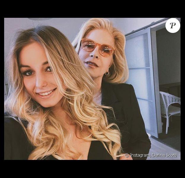 Darina Scotti-Vartan et sa mère Sylvie Vartan (photo postée en avril 2018)