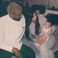 Kanye West, Kim Kardashian et leur fille Chicago. Avril 2018.