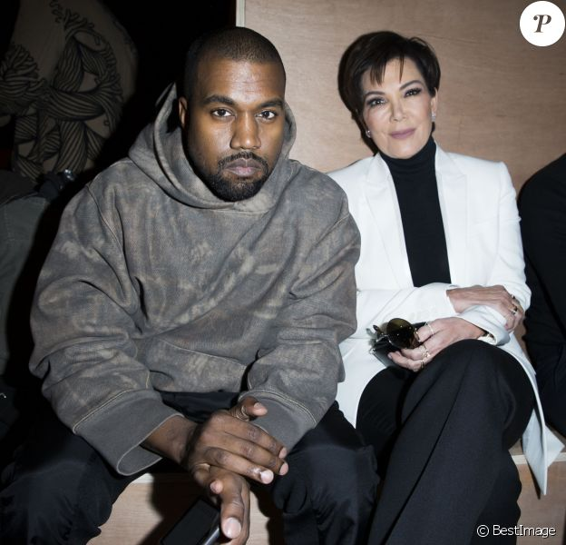 Kanye West et Kris Jenner à Paris le 6 mars 2016. © Olivier Borde/Bestimage