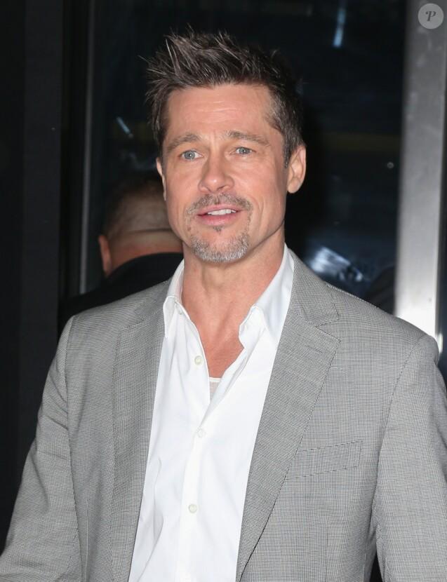 """Brad Pitt arrive à la première de """"Okja"""" à New York, le 8 juin 2017"""