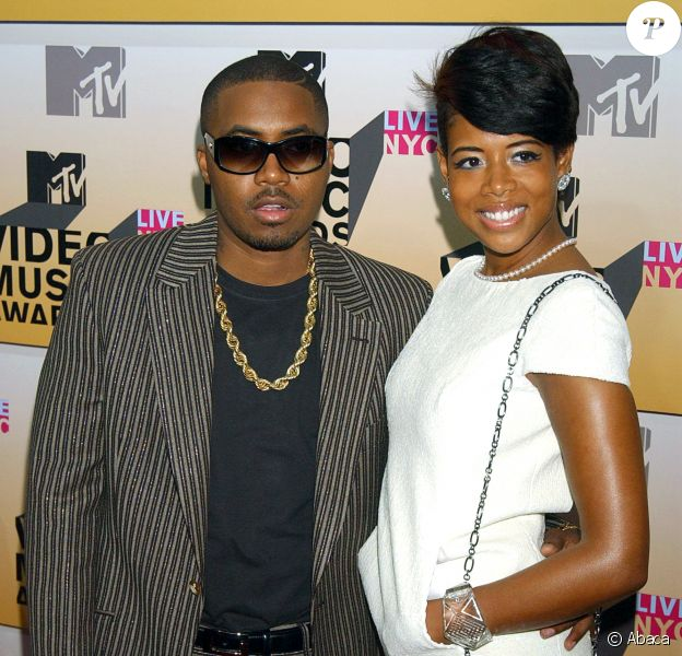 Nas et Kelis (wearing a Chanel bracelet) aux MTV Video Music Awards 2006.