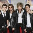 Le groupe de rock  Push Play  était présent pour l'avant-première d'Hannah Montana The Movie.