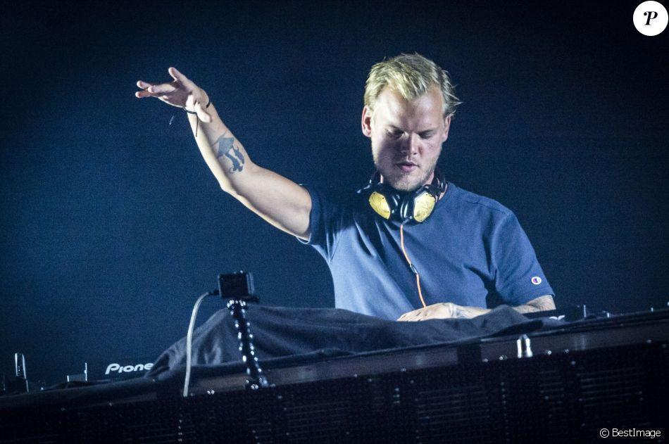 Avicii (Tim Bergling) en concert à Malmö. Suède, le 5 août 2016.