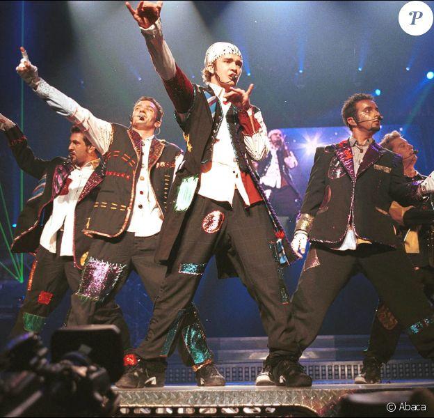 Le groupe N'Sync en concert à New York. Juillet 2000. © Kevin Mazur/LFI/ABACA