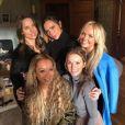 Les Spice Girls réunies chez Geri Halliwell le 2 février 2018.