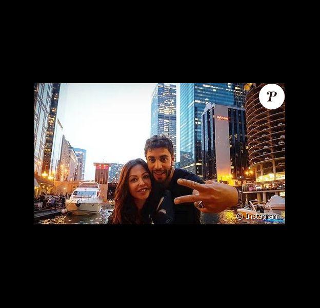 """Dounias Coesens et Marwann Berreni de """"Plus belle la vie"""" à Chicago, Instagram, mai 2018"""