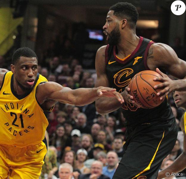 Tristan Thompson lors du match Cleveland Cavaliers - Indiana Pacers. Cleveland, le 29 avril 2018.