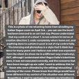 Les excuses de Gigi Hadid sur Instagram ce 3 mai 2018.