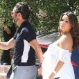 Eva Longoria et son mari José Baston - Le couple arrive à la baby shower de Eva Longoria à The Lombardi House à Los Angeles, le 5 mai 2018