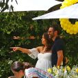 Eva Longoria et son mari José Baston - Baby shower de Eva Longoria à The Lombardi House à Los Angeles, le 5 mai 2018