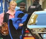 "Katherine Heigl, sur le tournage de ""Five Killers"", à Nice, en France, le 3 avril 2009 !"