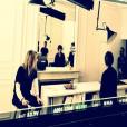 1er jour de tournage du court métrage de Laura Smet dans lequel elle dirige Nathalie Baye, sa mère, le 24 mars 2018.