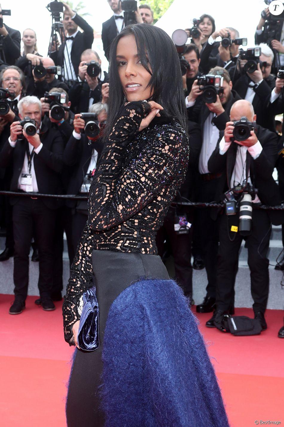"""Shy'm - Montée des marches du film """"Everybody Knows"""" lors de la cérémonie d'ouverture du 71e Festival International du Film de Cannes. Le 8 mai 2018 © Borde-Jacovides-Moreau/Bestimage"""