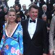 """Laura Tenoudji et son mari Christian Estrosi - Montée des marches du film """"Everybody Knows"""" lors de la cérémonie d'ouverture du 71ème Festival International du Film de Cannes. Le 8 mai 2018 © Borde-Jacovides-Moreau/Bestimage"""