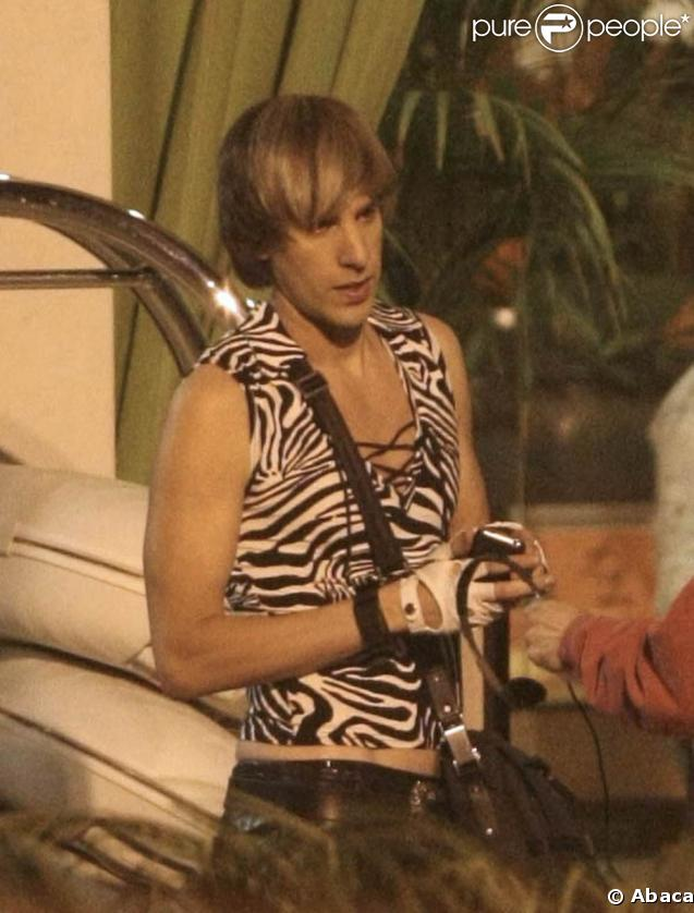 Sacha Baron Cohen sur le tournage de  Bruno , en octobre 2008