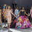 """Bella Hadid, Naomi Campbell, Winnie Harlow, Jussie Smollett et Natalia Vodianova lors du défilé de mode """"Fashion For Relief"""" lors du 71ème Festival International du Film de Cannes, France, le 13 mai 2018 © Cyril Moreau/Bestimage"""