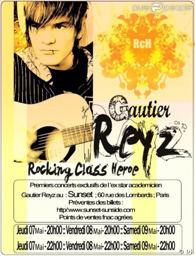 Gautier de la Star Ac' sera en concert au Sunset !