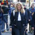 """Christie Brinkley quitte les studios de l'émission """"Good Morning America"""" à Times Square, New York le 20 avril 2018."""