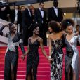 "Le collectif des 16 actrices ""Noire n'est pas mon métier"" dont Sonia Rolland (Habillée en Balmain) - Montée des marches du film "" Burning "" lors du 71ème Festival International du Film de Cannes. Le 16 mai 2018 © Borde-Jacovides-Moreau/Bestimage"