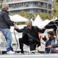 Exclusif - Pierce Brosnan et sa femme Keely Shaye Smith profitent du soleil sur un yacht lors du 71ème Festival International du Film de Cannes, France, le 17 mai 2018.