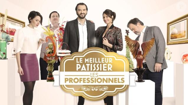Audrey Gellet, Cyril Lignac, Pierre Hermé et Philippe Conticini, le jury du  Meilleur Pâtissier - Les Professionnels  sur M6, mai 2018.