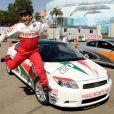 Carlos Mencia lors de la journée d'entraînement pour la 33e course annuelle Toyota en Californie