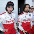 Keanu Reeves et Adrien Brody lors de la journée d'entraînement pour la 33e course annuelle Toyota en Californie