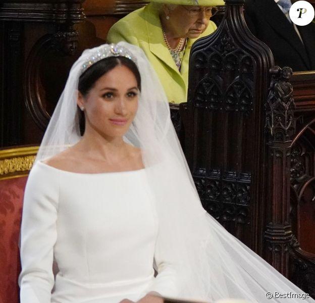Meghan Markle et le prince Harry, duchesse et duc de Sussex, lors de leur mariage le 19 mai 2018 à Windsor.