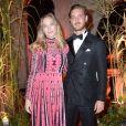 """Beatrice Borromeo et son mari Pierre Casiraghi lors du dîner des """"Franca Sozzani Awards"""" au 74ème Festival International du Film de Venise (Mostra), le 1er septembre 2017."""